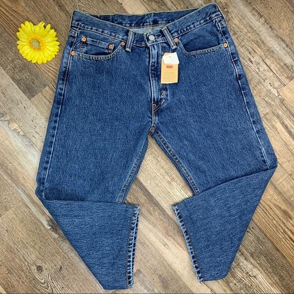 Levi's 505 Regular Fit Jeans 32 X 29 Blue
